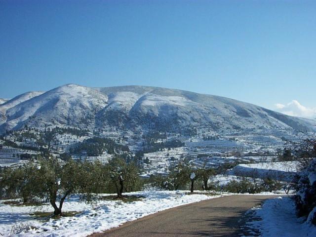 Nevada 2001 Serra d'Almudaina des del Tossal