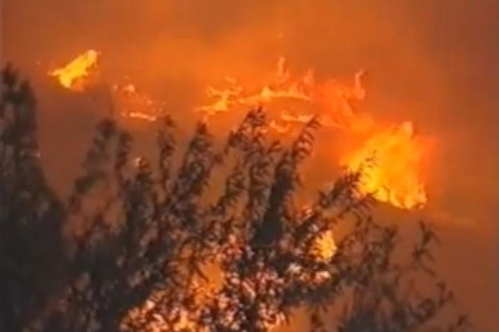 Incendi a la Serra d'Almudaina (VÍDEO)